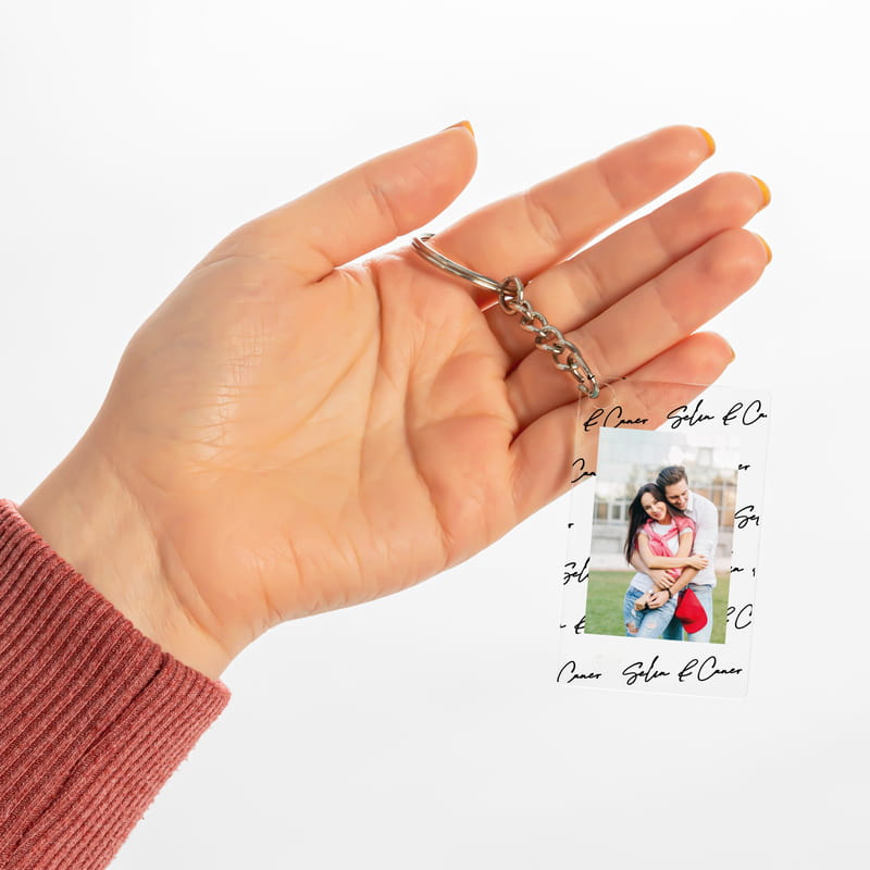 Sevgililer Günü Hediyesi Fotoğraf ve İsimli Anahtarlık