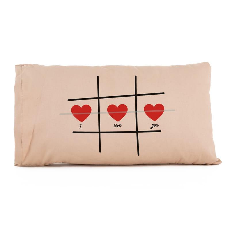 Sevgiliye Hediye Kalp XOX Oyun Tasarımlı Yastık