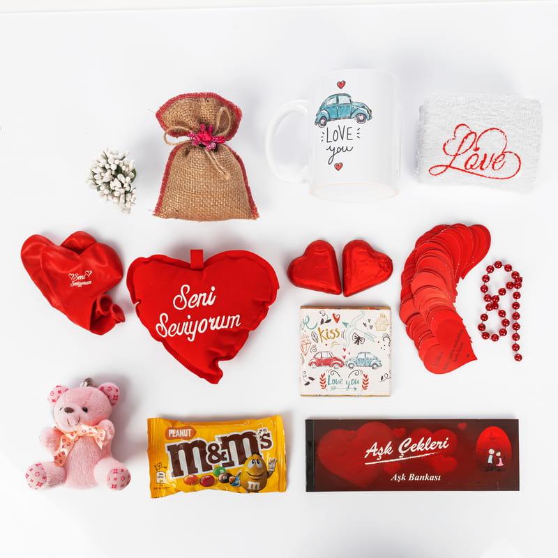 Sevgiliye Sürpriz Aşk Sepeti