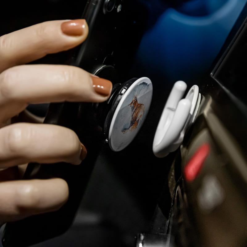 Sulu Boya Tilki Tasarımlı PopSocket Telefon Parmak Tutucu