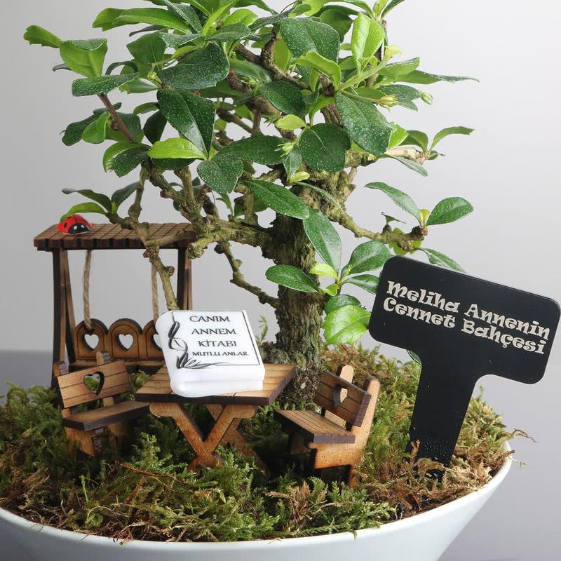 Anneye Hediye Salıncaklı Minyatür Bahçe