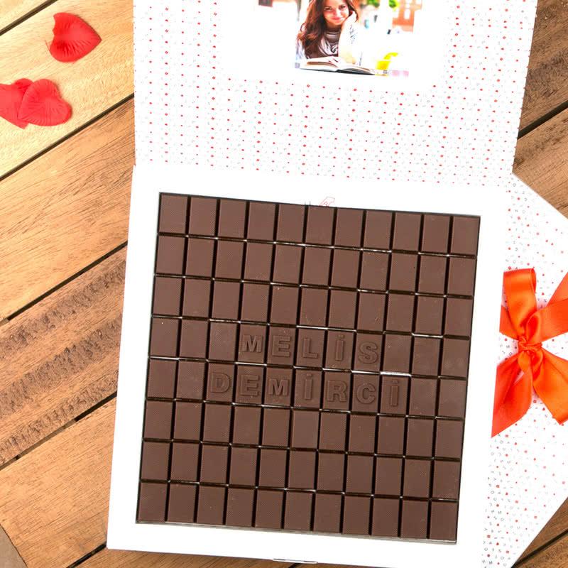 Kişiye Özel 600 gr Harf Çikolata