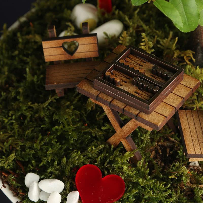 Eşime Hediye Tavlalı Minyatür Bahçe