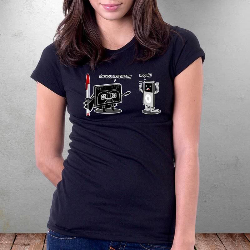 Espirili Karikatür Baskılı Tişört
