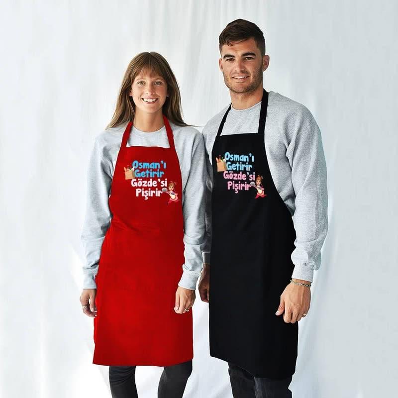Evlilere Özel Tasarımlı 2li Mutfak Önlüğü