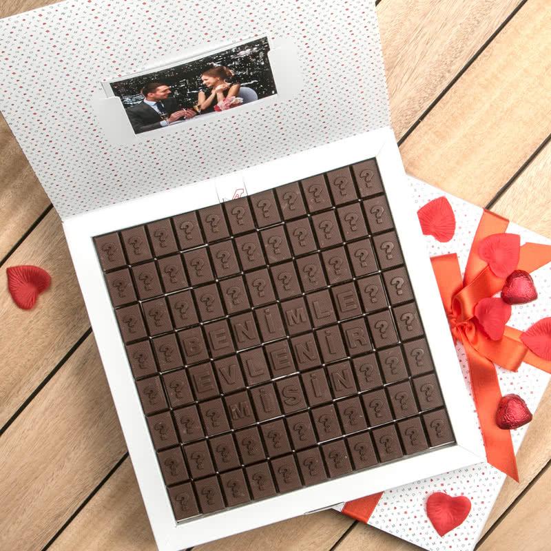 Evlilik Teklifi Mesajlı Harf Çikolata