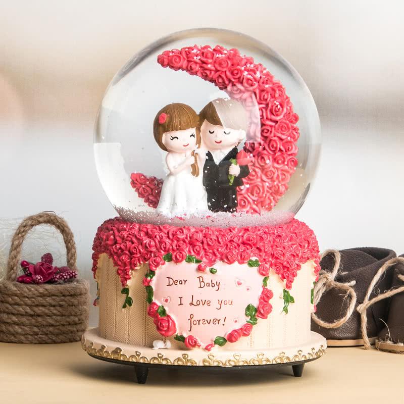 Evlilik Yıl Dönümü Hediyesi Müzikli Kar Küresi