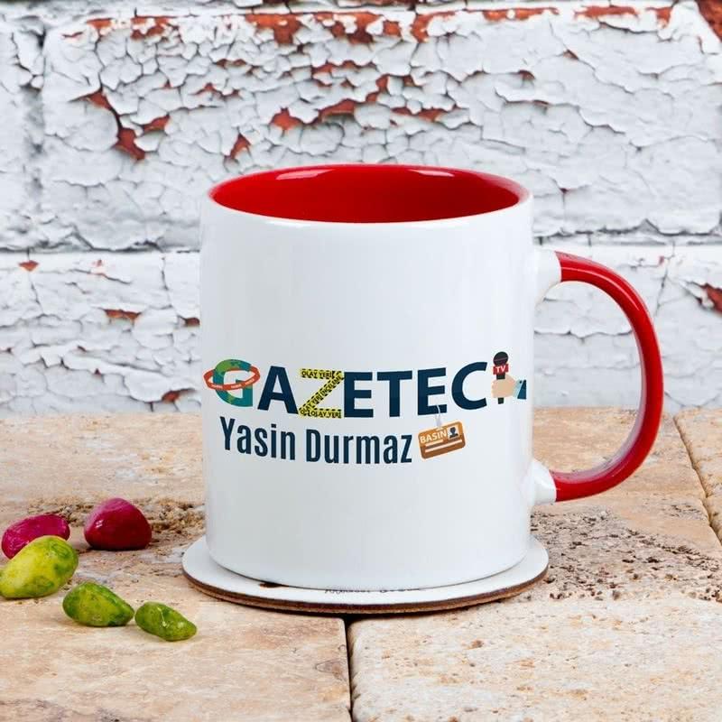 Gazeteciye Hediye Renkli Kahve Kupası