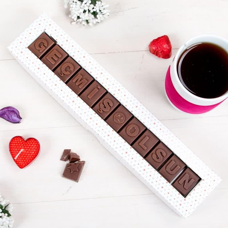 Geçmiş Olsun Yazılı Harf Çikolata