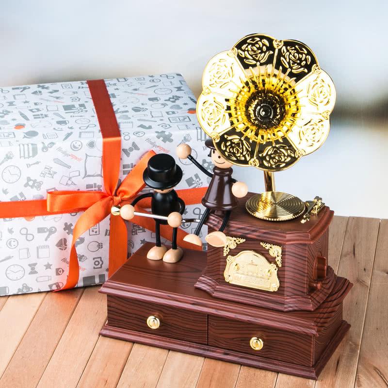 Nostalji Gramofon Müzik Kutusu