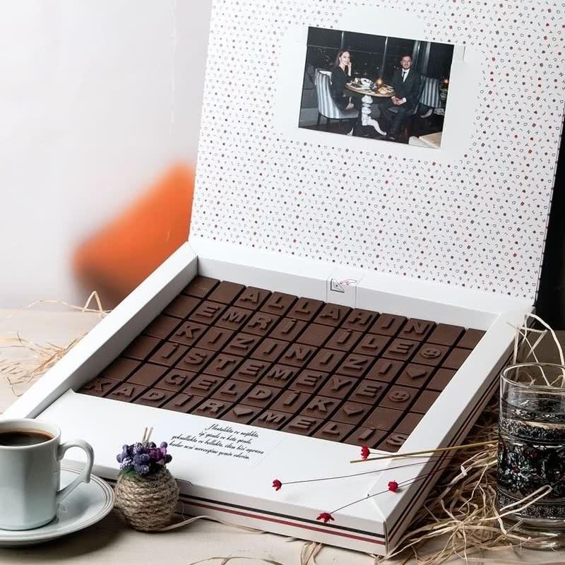 İsim Yazılı Söz Nişan Harf Çikolata