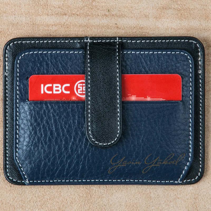 İsme Özel Deri Kredi Kartlık