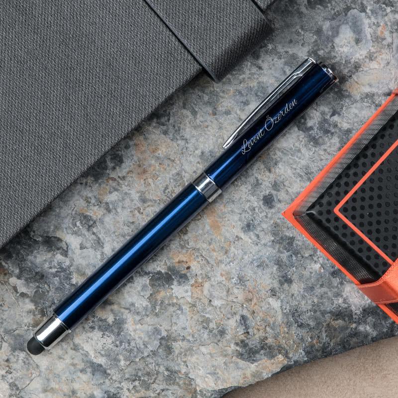İsme Özel Metal Mavi Renkli Tükenmez Kalem
