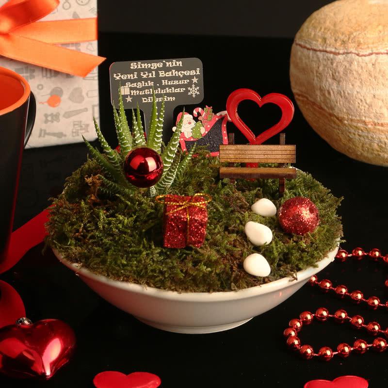İsme Özel Yeni Yıl Hediyesi Minyatür Bahçe