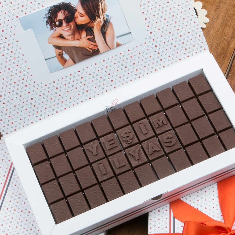 Kişiye Özel 300 gr Harf Çikolata