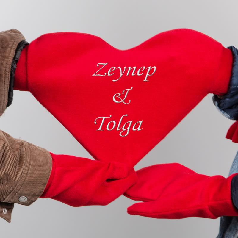 Romantik Çiftlere Özel Aşk Eldiveni Hediyesi