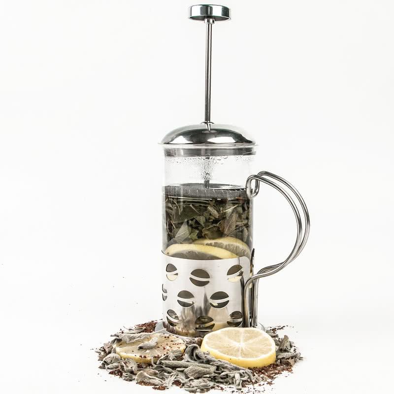 Kişiye Özel Cam French Press Kahve ve Çay Filtresi