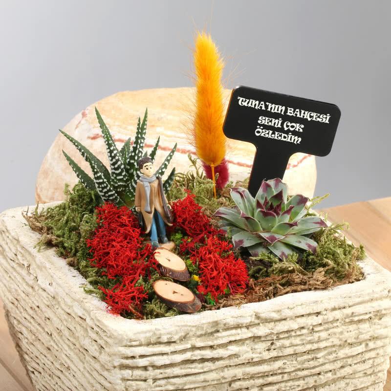Kişiye Özel Erkeğe Hediye Minyatür Bahçe