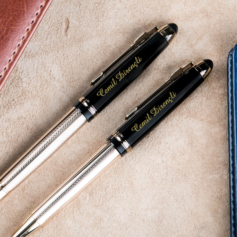 Kişiye Özel Gold Premium Kalem Seti