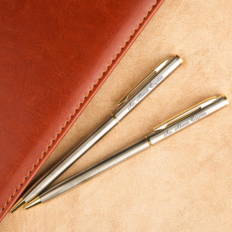 Kişiye Özel İkili Tükenmez Kalem Seti