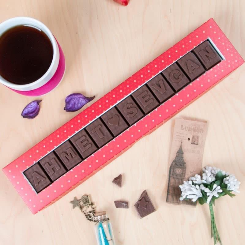 Kişiye Özel İsim Yazılı Harf Çikolata