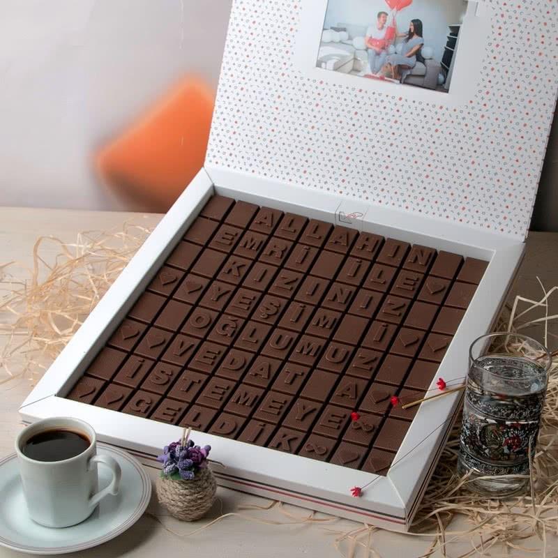 Kız İsteme Mesajlı İsim Yazılı Harf Çikolata