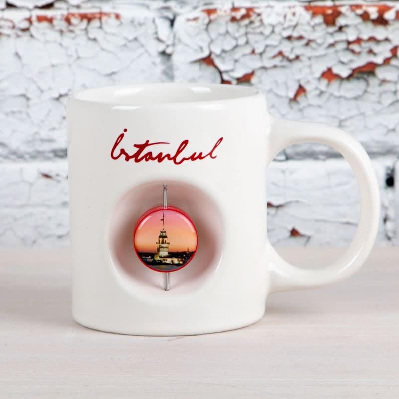 Kız Kulesi Tasarımlı Şık Porselen Kupa