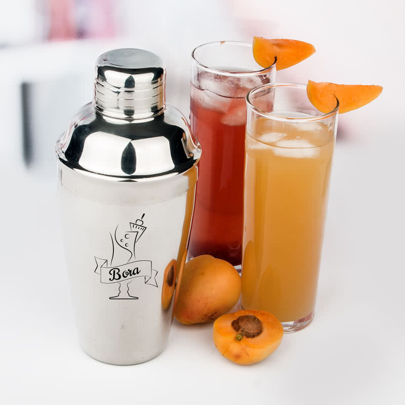 Kokteyl Tasarımlı İsme Özel Shaker