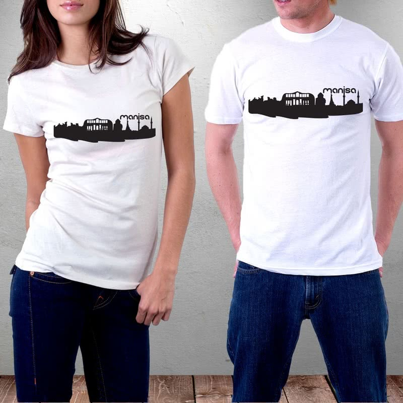 Manisa İli Özel Tasarımlı Baskılı Tişört