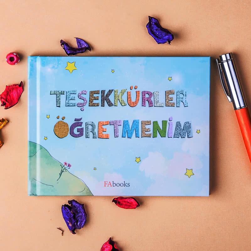 Öğretmenler Günü Hediyesi Teşekkürler Öğretmenim Kitabı