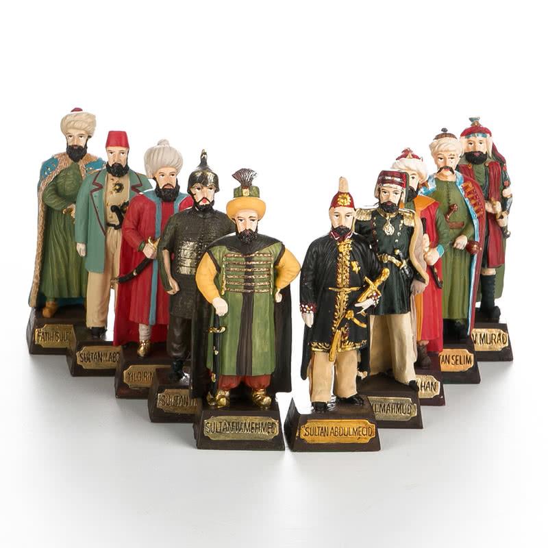 Osmanlı Padişah Serisi Biblo Seti 10 lu