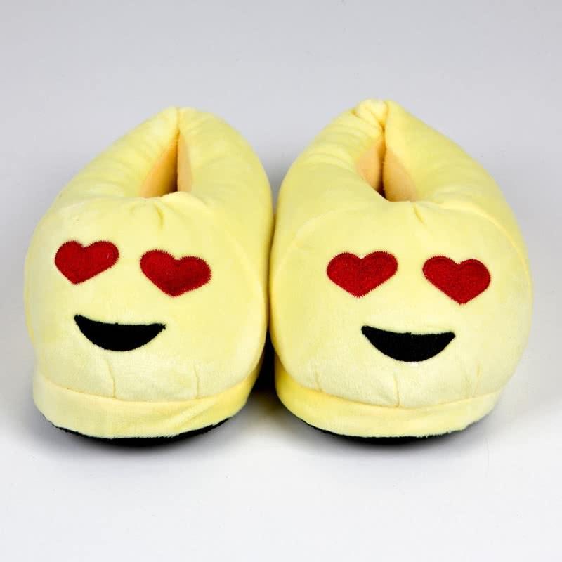Peluş Kalpli Emoji Terlik