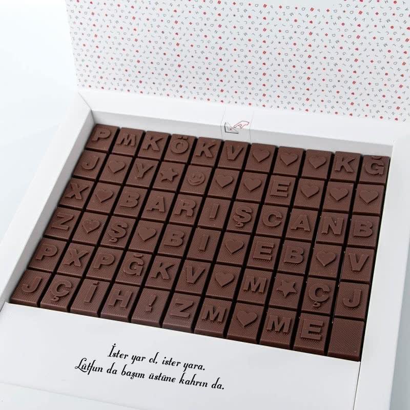 Puzzle İsim Yazılı Harf Çikolata