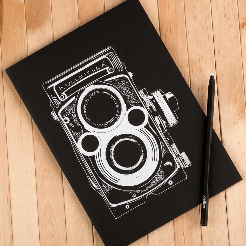 Retro Fotoğraf Makinası Tasarımlı Defter Kalem Seti