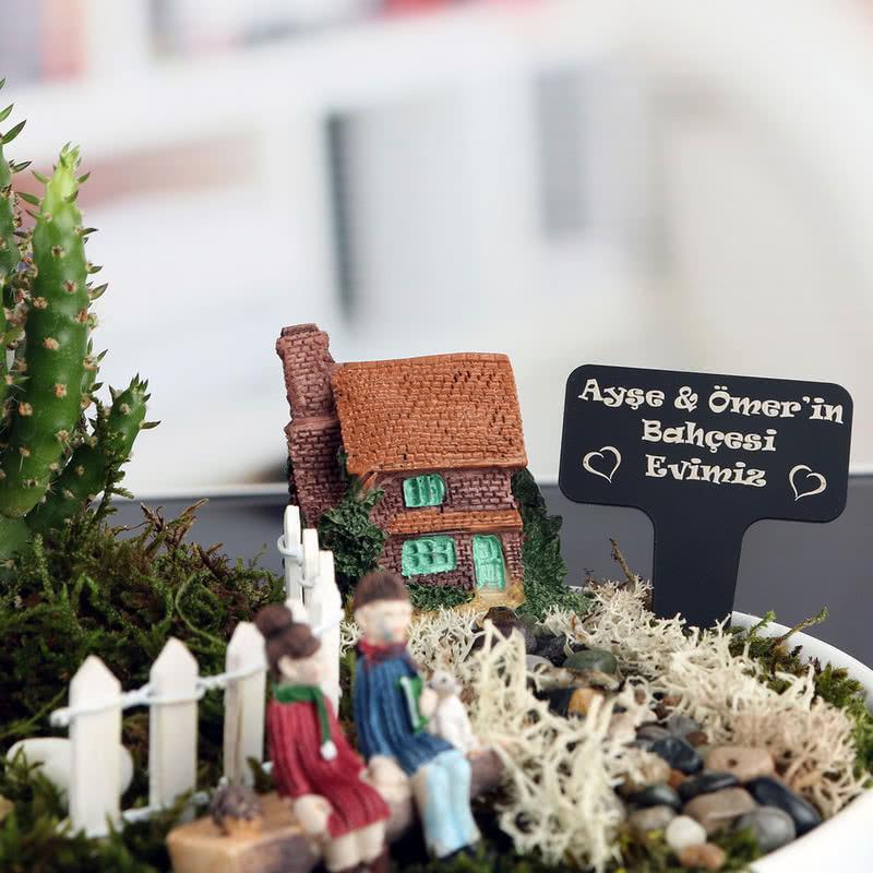 Romantik Çiftlere Özel Aşk Evi Minyatür Bahçe