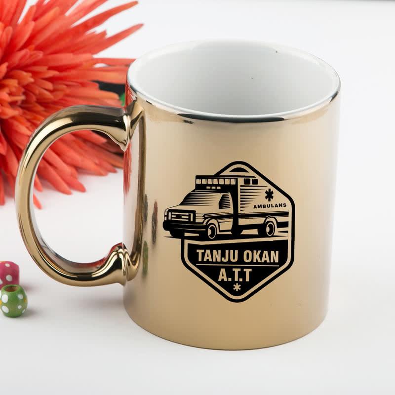Sağlık Çalışanlarına Özel Kurumsal Altın-Gümüş Kahve Kupası
