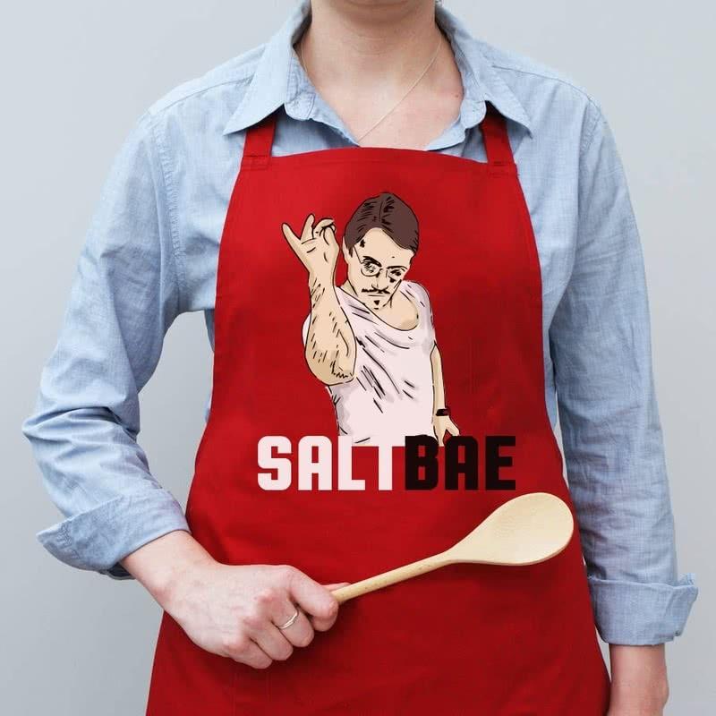 Bayan Sevgiliye Özel Hediye SaltBae Mutfak Önlüğü