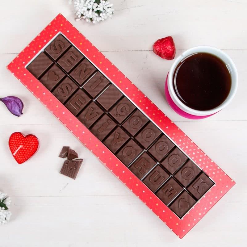 Seni Çoooook Seviyorum Yazılı Harf Çikolata