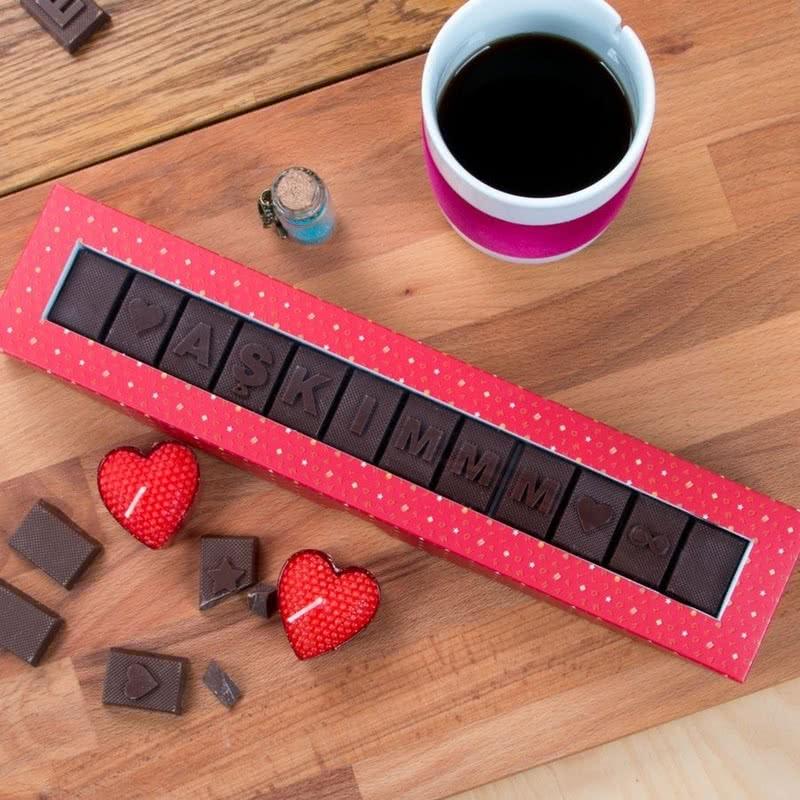 Sevgiliye Hediye AŞKIMMM Yazılı Harf Çikolata