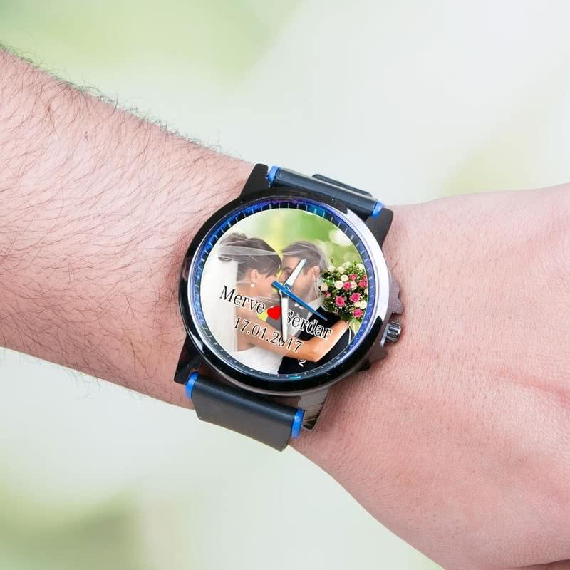 Sevgiliye Hediye Fotoğraflı Kol Saati