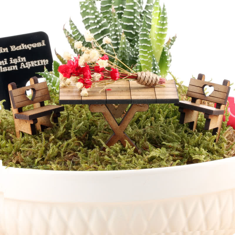 Sevgiliye Yeni İş Hediyesi Minyatür Bahçe