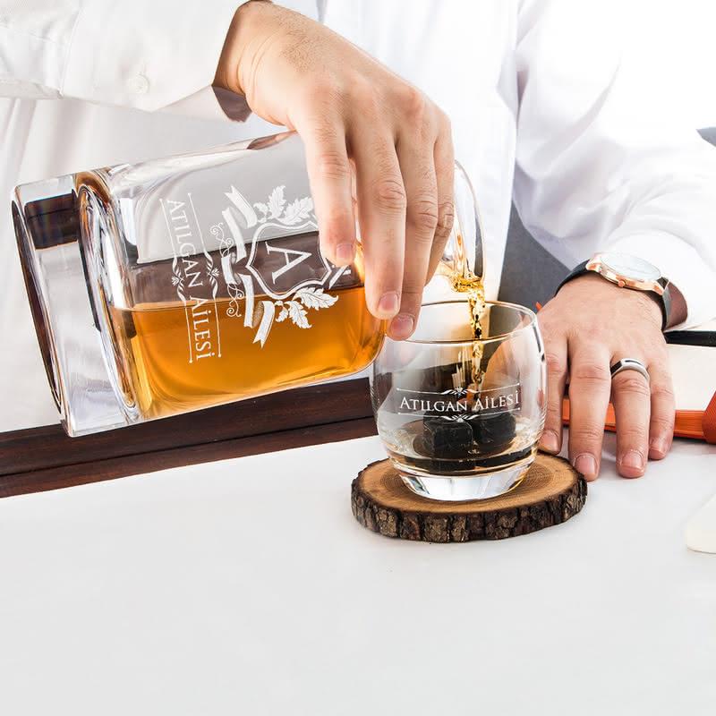 Aile İsmine Özel Louisville Viski Seti