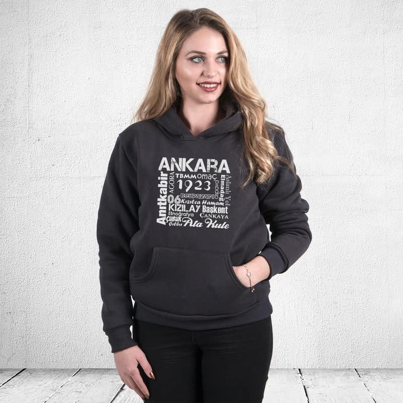 Ankaralıya Özel Kapşonlu Sweatshirt