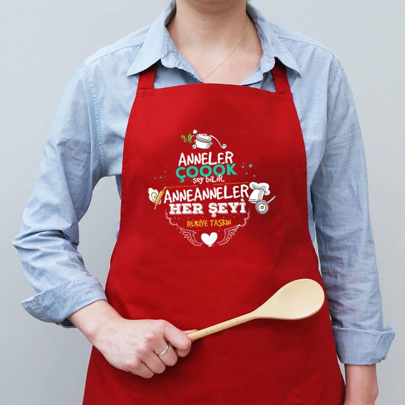 Anneanneye - Babaanneye Esprili Mutfak Önlüğü
