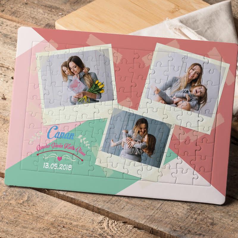 Anneler Gününe Özel Fotoğraf Baskılı 99 Parça Puzzle