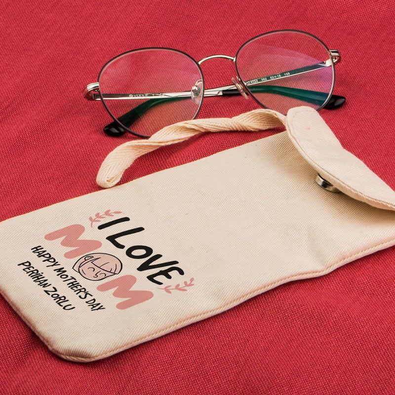 Anneye Hediye İsme Özel Gözlük Kılıfı