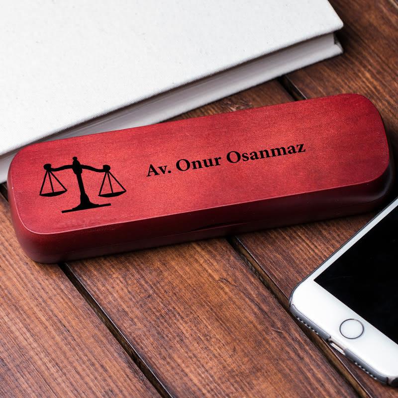 Avukatlara Özel Ahşap Kalem Seti