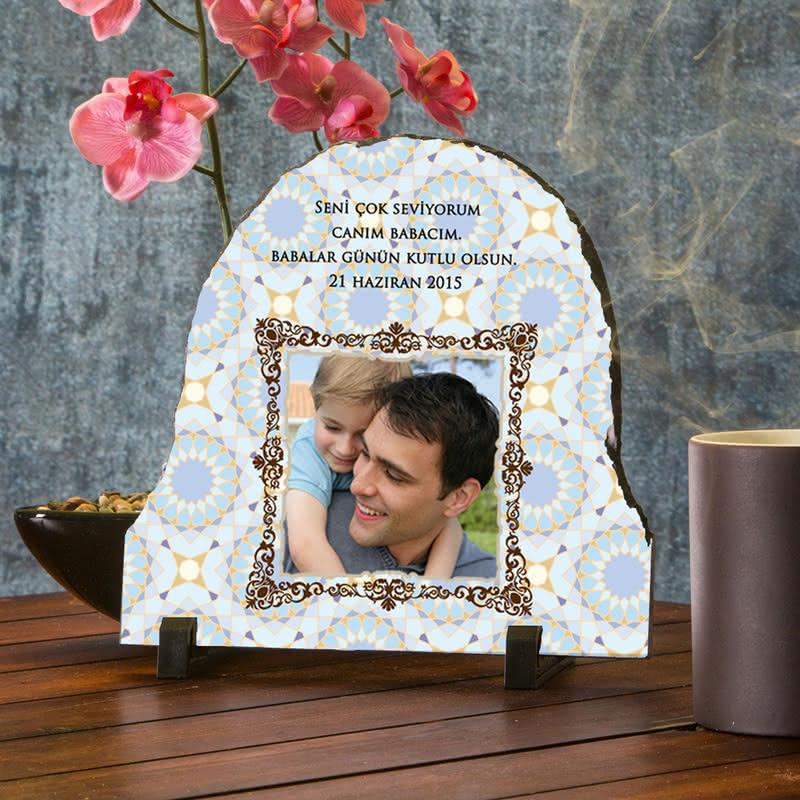 Babalar Günü Hediyesi Fotoğraflı Taş Foto