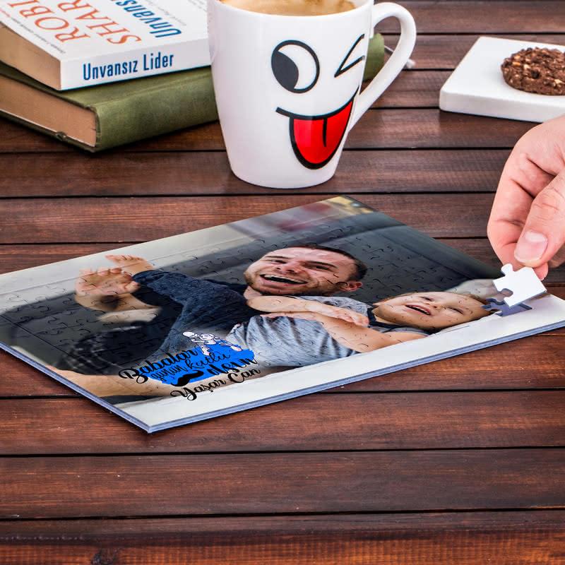 Babalar Gününe Özel Fotoğraf Baskılı Puzzle