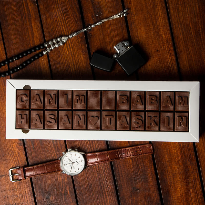 Canım Babam Mesajlı İsme Özel Harf Çikolata